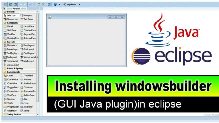 How to install Free Window Builder for Java in Eclipse