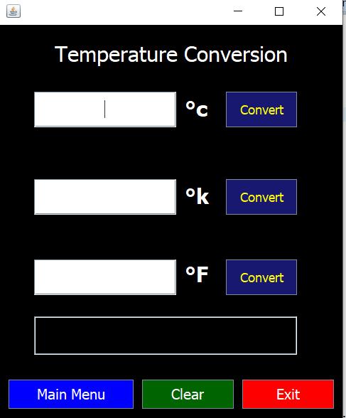 Unit Converter using Java GUI [5 Frame] 2