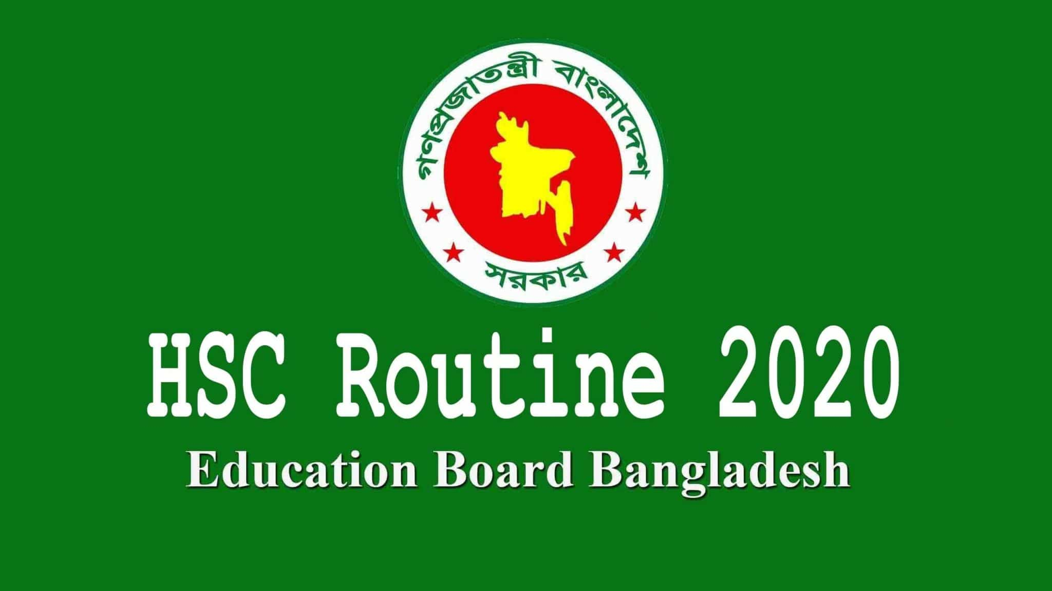 HSC Routine 2020 PDF Download | All Board BD