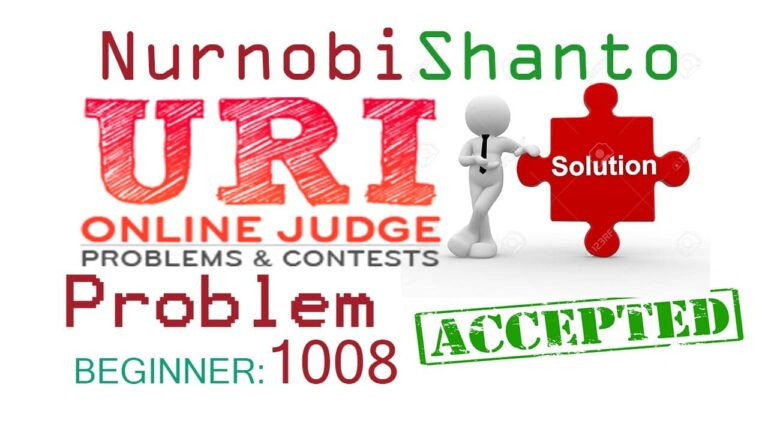URI Online Judge Solution| 1008 Salary