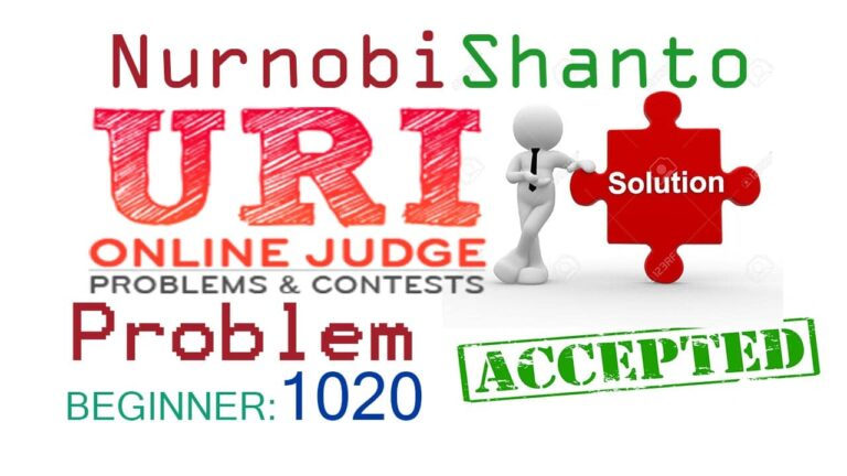 URI Online Judge Solution| 1020 Age in Days