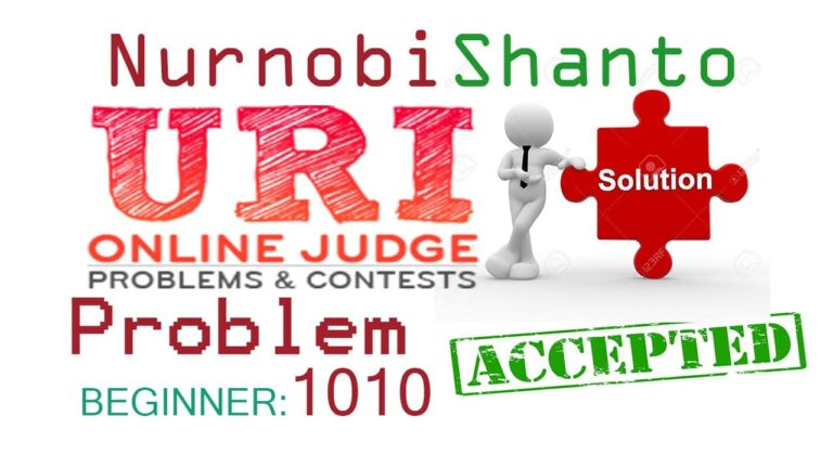 URI Online Judge Solution| 1010 Simple Calculate