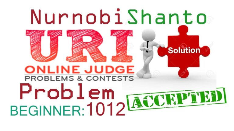 URI Online Judge Solution| 1012 Area