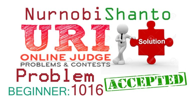 URI Online Judge Solution| 1016 Distance