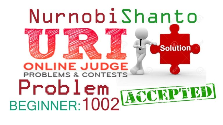 URI Online Judge Solution | 1002 Area of a Circle [Solve]
