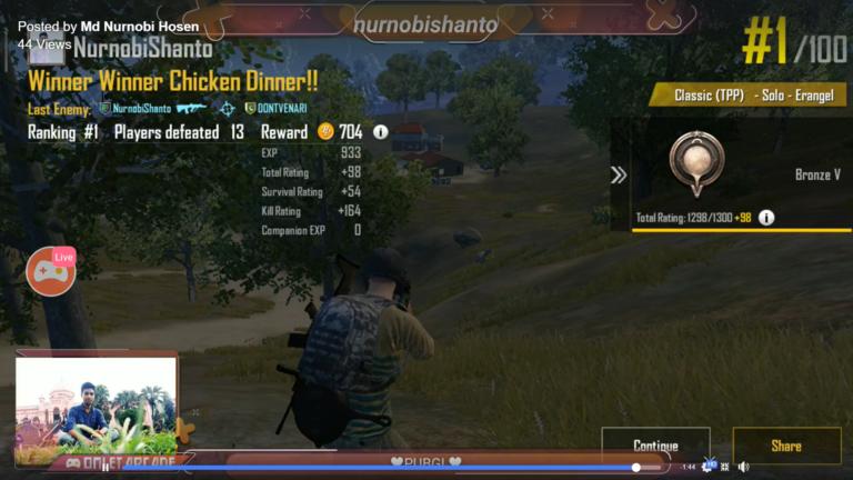 PUBG  Chicken Dinner Win LIVE Stream