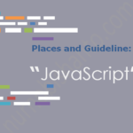"""Places and Guideline: """"Learn JavaScript"""""""
