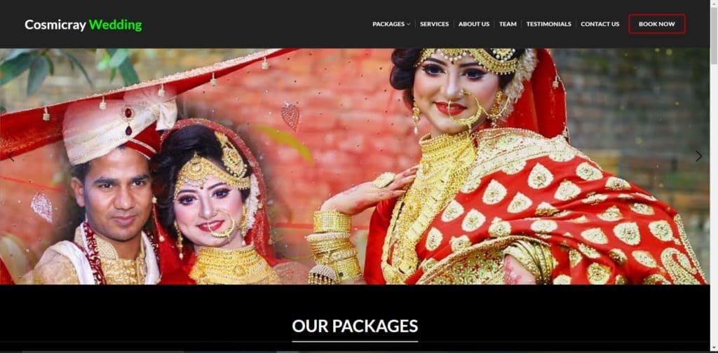Build Full Website - (Cosmiccray Wedding ) 1
