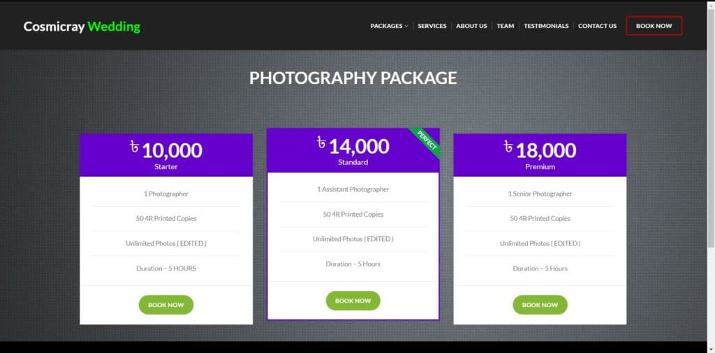 Build Full Website - (Cosmiccray Wedding ) 3