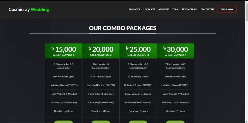 Build Full Website - (Cosmiccray Wedding ) 4