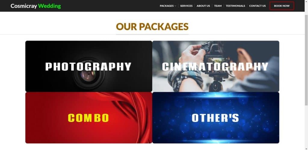 Build Full Website - (Cosmiccray Wedding ) 5