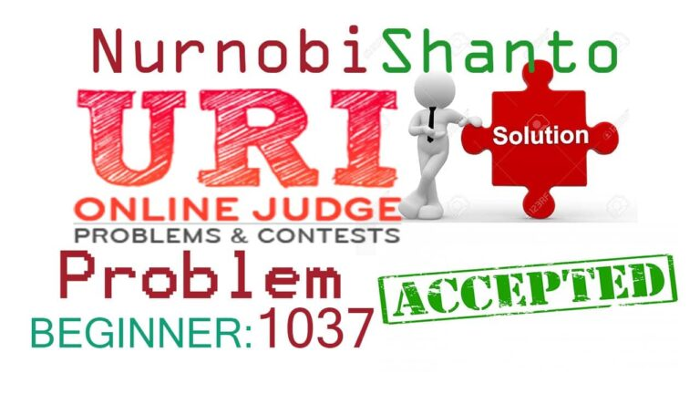 URI Online Judge | 1037 Solution | Interval