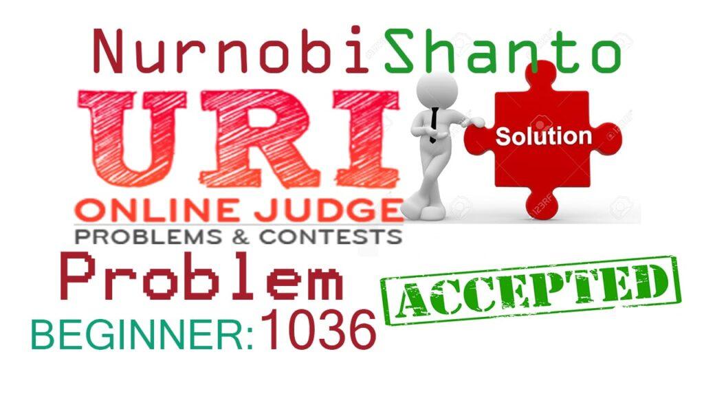 URI Online Judge solve 1036